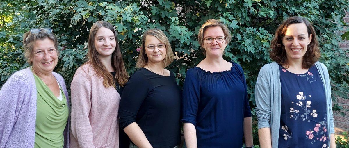 von links: Heike Neuhaus, Carolin Brach, Jennifer Dydowicz, Katrin Mengede, Kathrin Bay